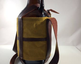Craft beer growler cover carrier