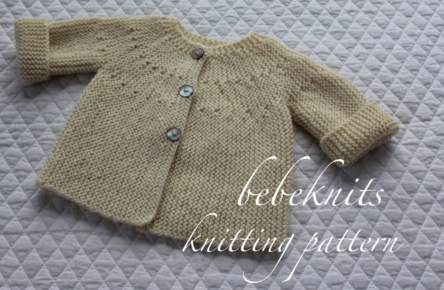 Knitting Pattern All In One Baby Cardigan
