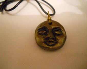 Moon Face Pendant