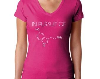 Chemistry Shirt - Serotonin Molecule - Science Shirt - Periodic Table - Geek Shirt - Chemistry Tshirt - Science Tshirt - Geek Tshirt