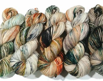Hand Dyed Yarn: Koi Pond - Prairie Base {SW Merino, 256yd, sport} Suitable for knitting and crochet