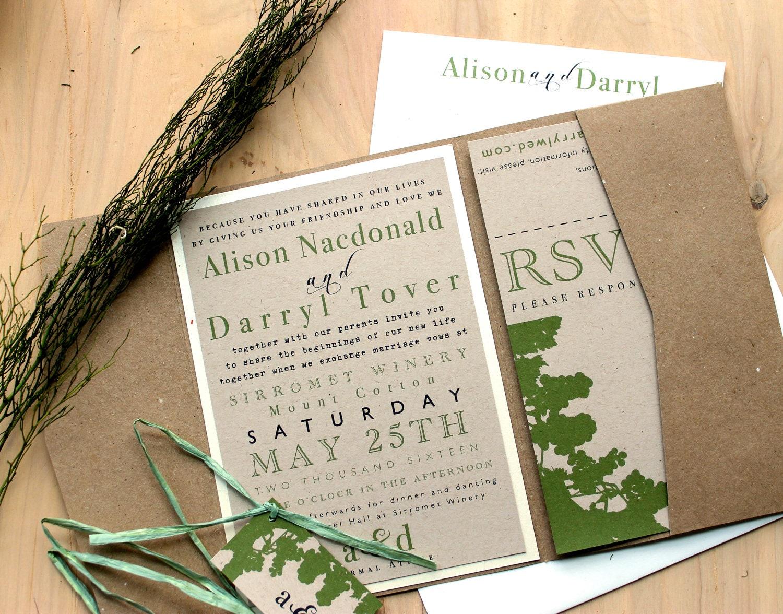 eco friendly wedding invitations - Wedding Decor Ideas