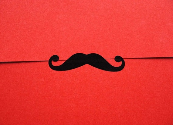 Moustache Stickers for gift wrap