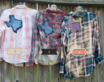 Texas Distressed Flannels Women's sizes