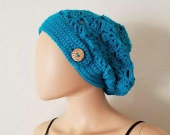 Falling Fans Slouchy Beanie Crochet Pattern *PDF FILE ONLY* Instant Download