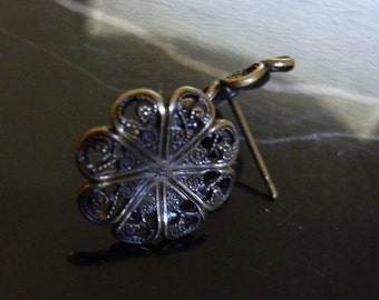 4 Sets Antiqued Brass Earring Posts C19 D