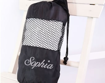 Personalised Towel and Drawstring Bag Set