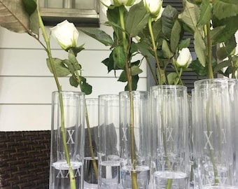 Amazing Personalized Vases Custom Laser Engraved, Flute, Centerpiece, Wedding  Favors, Shower Favors Photo