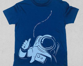 Ground Control To Major T-Shirt / Personalised Astronaut T-Shirt / Space Themed T-Shirt for Kids / Astronaut Birthday Gift / Space Kids