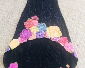 painted flowers dress