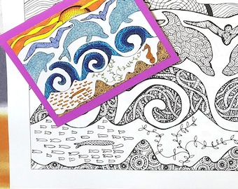 25 Scenic, world Colouring Pages: Postcards Coloring Book for adults (Printable Version)