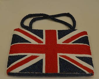 Vintage London gift set: British purse, small bag of flag Union Jack & shirt Tower Bridge; United Kingdom UK England t-shirt Britain