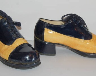 Groovy Men's 70s Platform Disco Shoes Glam A-Go-Go Wild Pimp Beauties Size 9B