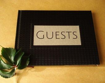 FREE SHIPPING Black Guest Book · Unique Wedding Guest book · Quality Guest Book Wedding · Black Wedding Album Keepsake· Executive Guest Book