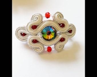 Hair accessory  , woman gift, handmade Jewelry, soutache