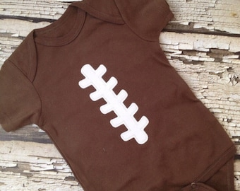 Football Shirt or Bodysuit - Brown Lace Up Bodysuit- Personalized Football Shirt