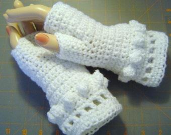0070 Fingerless Gloves Womens Bobble Winter Fashion by CarussDesignZ