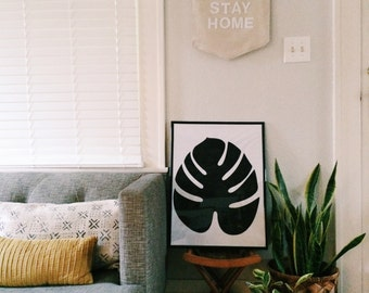 Graphic Palm Poster