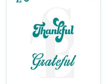 Thankful Grateful Greetings Stencil