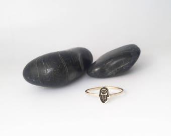 Hamsa Ring, Hamsa Jewelry, Hamsa, Hamsa Hand Ring, Hamsa Hand Jewelry, Hamsa Hand, Hand of Fatima Ring, Protection Ring, Tiny Hamsa Ring