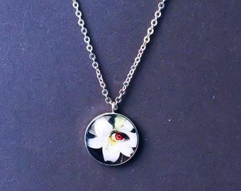 Flower Eye Charm Necklace