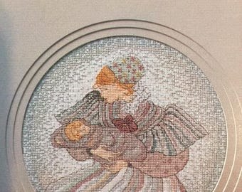P. Buckley Moss The Newborn Primitive Counted Cross Stitch Pattern Needlework June Grigg Rare Out of Print Leaflet 110