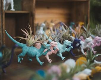Customize Your Own Large Dinosaur Planter + Air Plant; Dinosaur Planter; Home Decor; Desk Accessory; Office Planter; Gift; Dorm