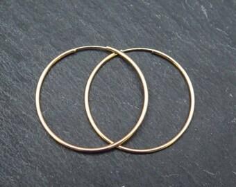 Gold Filled Earring Hoop 30mm ~ PAIR