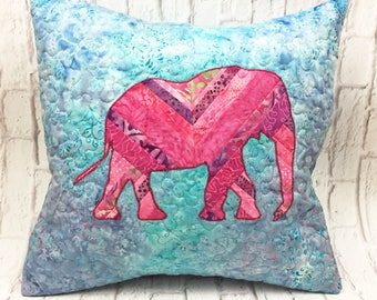 Elephant decorative pillow, unique home decor, throw pillows, elephant pillow, elephant decor, elephant baby shower, kids room decor,