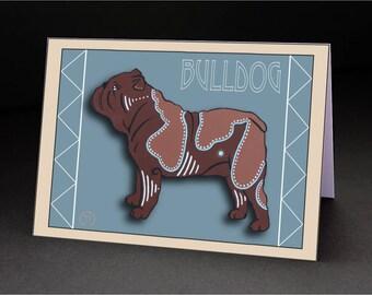 """Bulldog 4.25"""" x 6"""" Blank Greeting Card"""