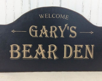 Personalized Man Cave Signs Etsy : Bar den sign etsy