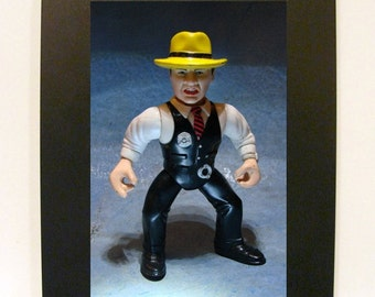 """Framed Dick Tracy Toy Photograph 5"""" x 7"""" Action Figure"""