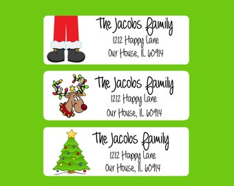 Christmas Return Address Labels, Envelope Seals Xmas, Envelope Labels, Printable Address Labels, Christmas Tags, Holiday Gift Tags (500)