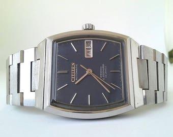 Vintage Mens Citizen Leopard 28800 Japan automatic watch, 70's , Original bracelet