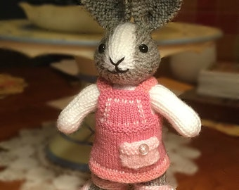 Bunny - Hand Knit - Made to Order - Stuffed Animal - Plushie - Easter