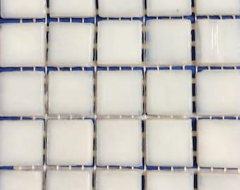 """15mm (3/5"""") Winter Weiß Milchglas Mosaiksteine Mosaik / / Square Zubehör / / Mosaik"""