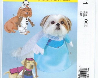 "McCalls 7211 - Pet Costume/""Frozen"" Characters - Sizes S, M, L, XL"