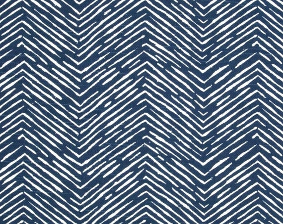 Designer Basket Weave Navy Blue Fabric By The Yard Designer