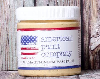 Amber Waves of Grain golden color American Paint Company APC chalk clay paint DIY 4 oz pot sample jar
