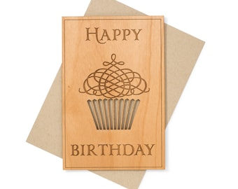 Birthday Gift. Birthday Card. Luxury Birthday Wood Card Gift for Women, for Sister, for Best Friend