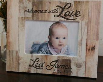 Personalized Picture Frame,Newborn Picture Frame,  Engraved Picture Frame, Baby Frame, Baby Gift, Personalized Baby Gift, Baby Gift,