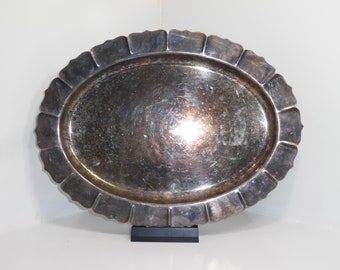 16 inch Silver Plated Early American International silver company # 4132 Tarnished Nice
