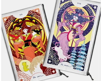 Major Arcana, Sun and Moon Pencil Bags