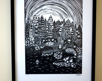 Archipelago 1 Original Lino Print