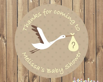 Personalized Baby Shower Stickers, Baby Shower Labels, Baby Shower, Baby Shower Favour Stickers, Baby Shower Thank You Stickers, Favor Label