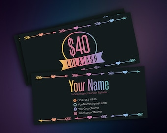 Cash Cards - LuLaCash - Money Card - Free Fast Personalization - Money - Bucks - Gift Cards - Business Card