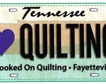 2016 License Plate for Row by Row Experience - Tennessee