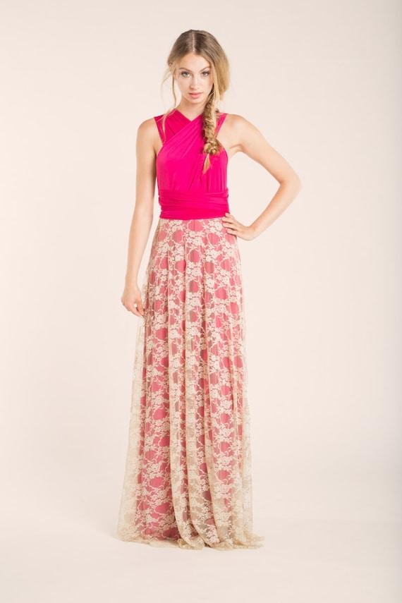 Vestido encaje blonda vestido fiesta estilo vintage vestido