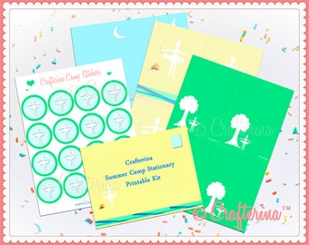 Ballet Camp Stationary PDF Kit - Printable DIY - Summer Craft