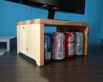 Computer Stand, Monitor Stand, Wood Monitor Stand, Screen Stand, Monitor Riser, Desk Shelf, Small Shelf, Shelf Riser, Wood Riser